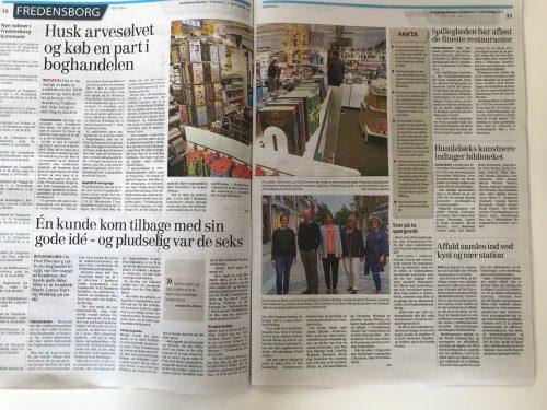 FredensborgFordi i Frederiksborg Amtsavis med Fredensborg boghandel